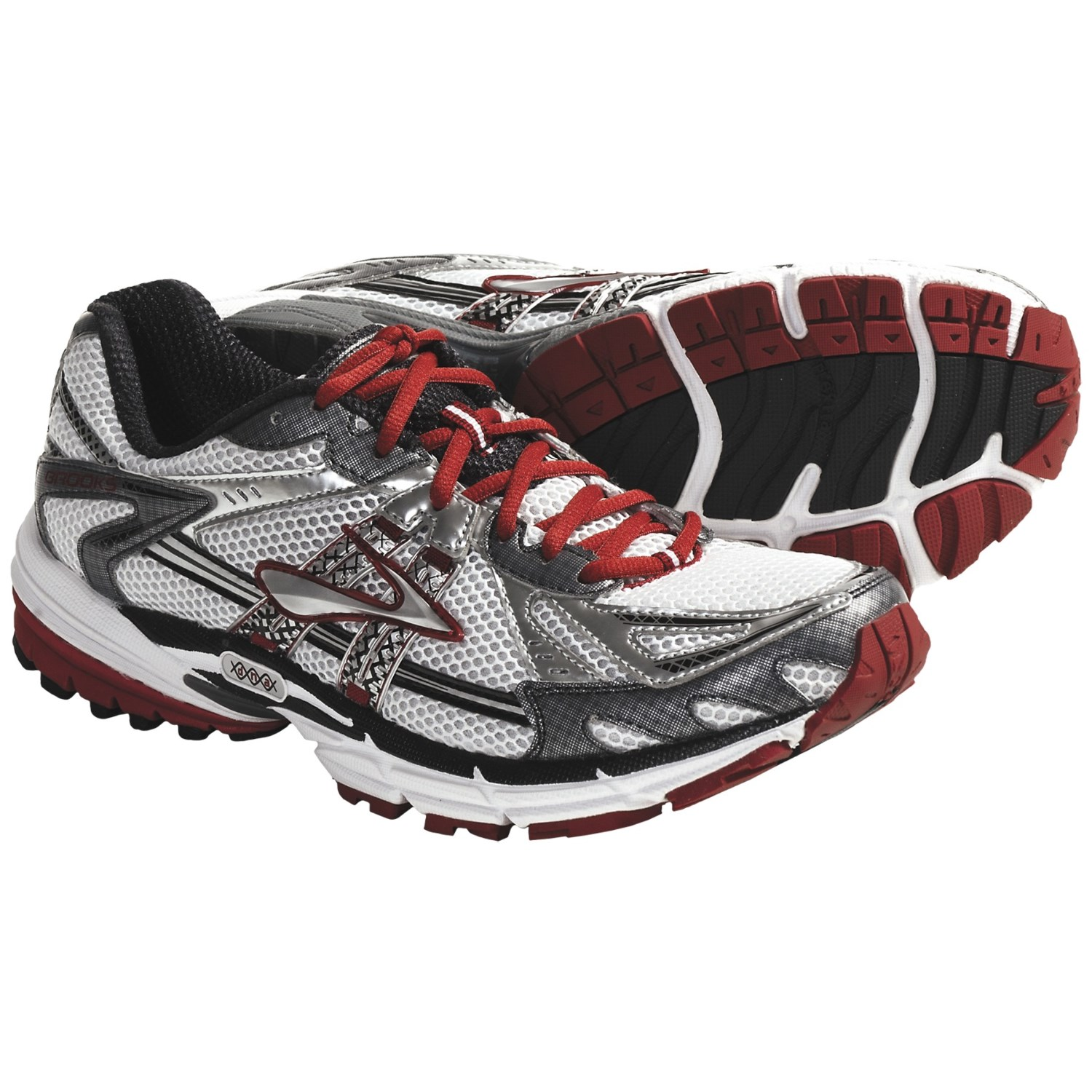 Brooks Ravenna 2 Running Shoes (For Men) in White/Silver/Shadow/Tango