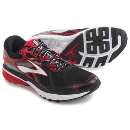 Brooks Ravenna 7 Running Shoes (For Men) in Black/High Risk Red/Silver - Closeouts