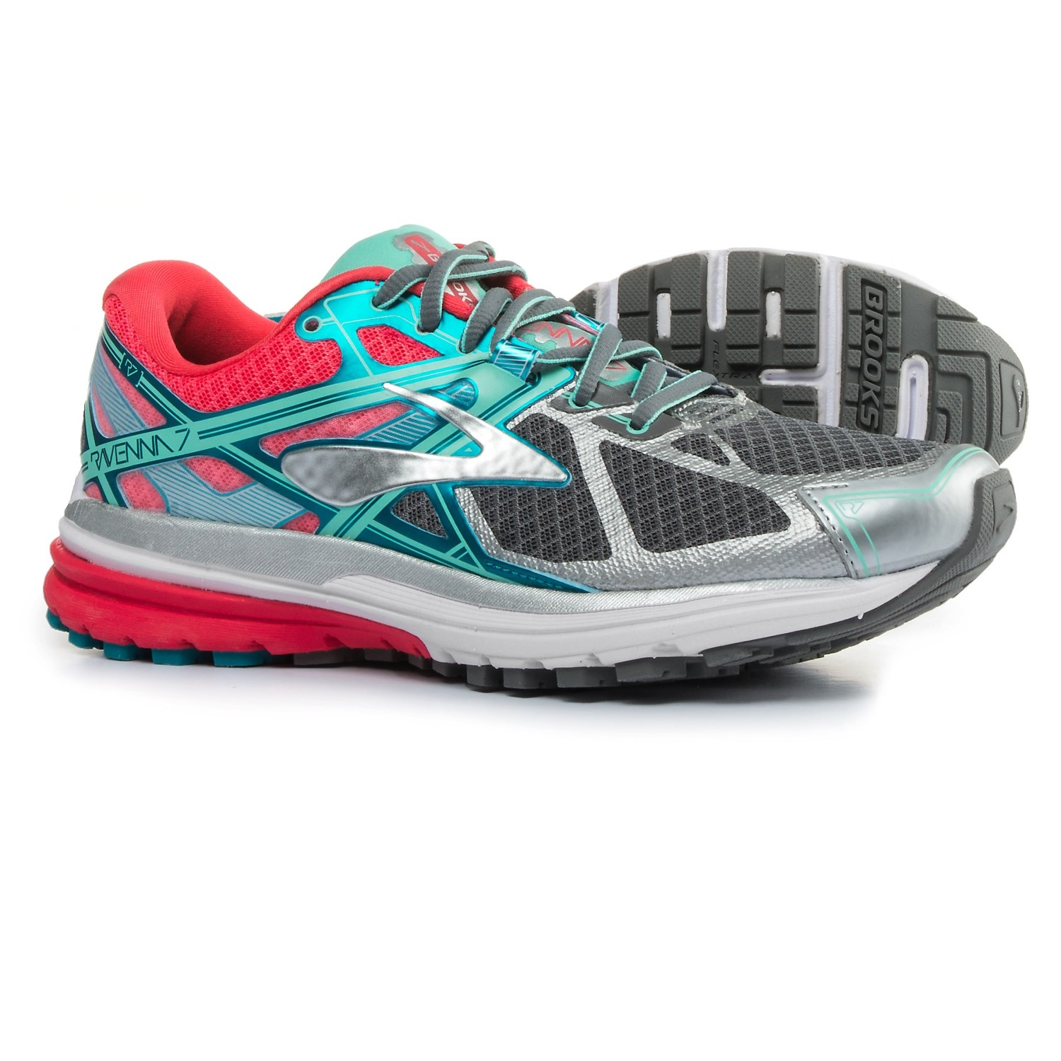 Brooks Ravenna 7 Running Shoes For Women In Smoked Pearl Paradise Pink