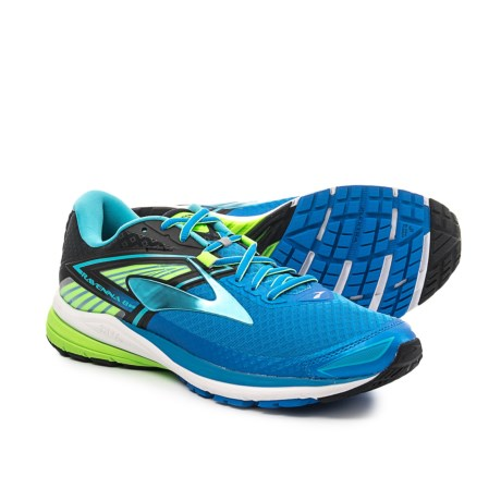 Brooks Ravenna 8 Running Shoes (For Men) in Electric Blue Lemonade/Black/Green Gecko