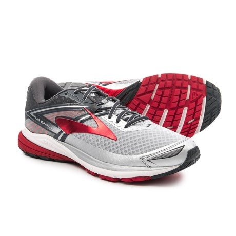 Brooks Ravenna 8 Running Shoes (For Men) in Silver/Anthracite/High Risk Red