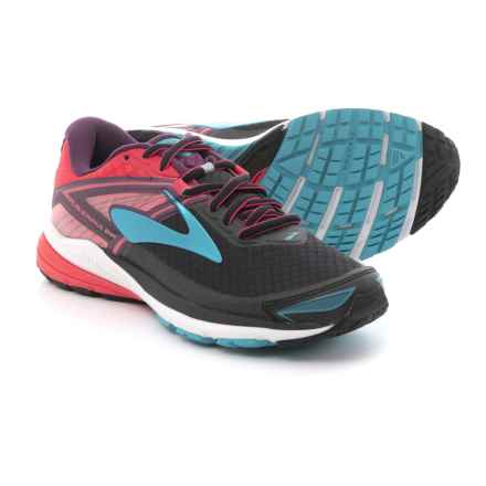 Brooks Ravenna 8 Running Shoes (For Women) in Black/Diva Pink/Plum Caspia - Closeouts