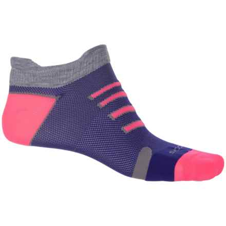 Brooks Ravenna Double Tab Running Socks - Below the Ankle (For Men and Women) in Marine/Bright Pink - Closeouts