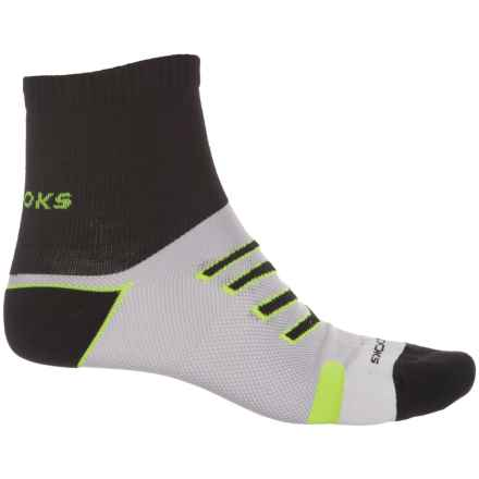 Brooks Ravenna Socks - Quarter Crew (For Men and Women) in Black/Nightlife - Closeouts