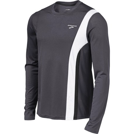 Brooks Rev II Shirt - Long Sleeve (For Men) in Anthracite/White