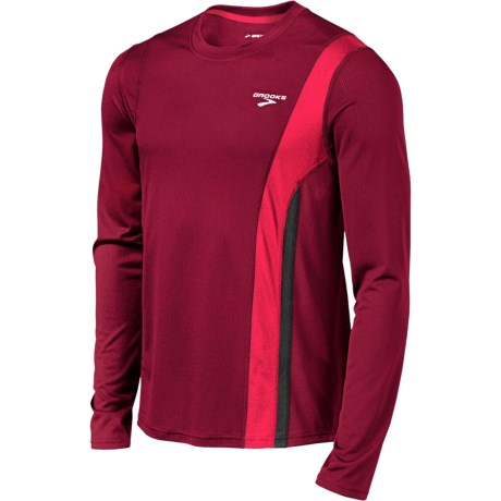 Brooks Rev II Shirt - Long Sleeve (For Men) in Matador/Plasma