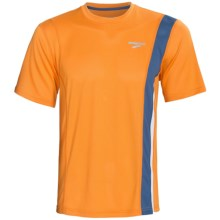 Brooks Rev II Shirt - Short Sleeve (For Men) in Atomic Orange - Closeouts