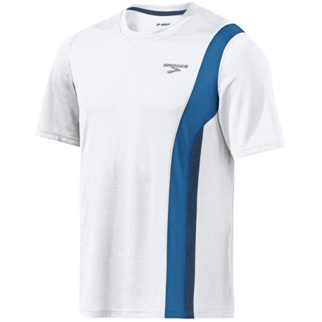 Brooks Rev II Shirt - Short Sleeve (For Men) in White/Galaxy