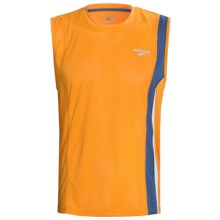 Brooks Rev II Shirt - Sleeveless (For Men) in Atomic Orange - Closeouts
