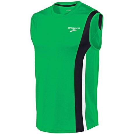 Brooks Rev II Shirt - Sleeveless (For Men) in Fern/Black