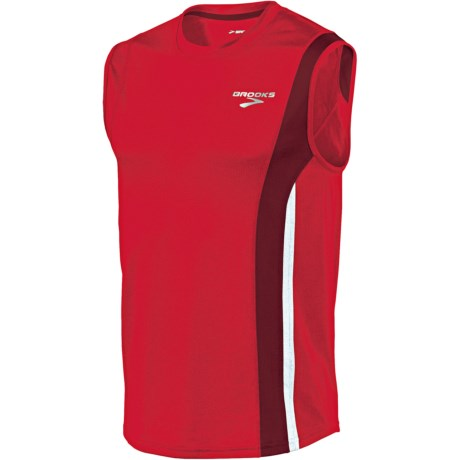 Brooks Rev II Shirt - Sleeveless (For Men) in Plasma/Matador