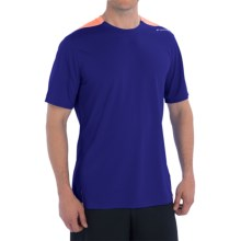 Brooks Rev III Shirt - Short Sleeve (For Men) in Indigo/Satsuma - Closeouts