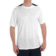 Brooks Rev III Shirt - Short Sleeve (For Men) in White/Small Black Stripe - Closeouts