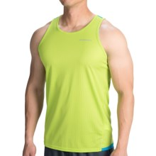 Brooks Rev Running Singlet III Tank Top (For Men) in Lime Green/Atlantic - Closeouts