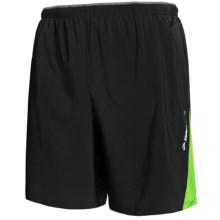 Brooks Rogue Runner III Shorts - Built-In Inner Briefs (For Men) in Black/Brite Green - Closeouts