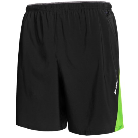 Brooks Rogue Runner III Shorts - Built-In Inner Briefs (For Men) in Black/Brite Green