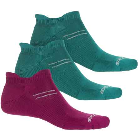 Brooks Run In Three Double-Tab Socks - 3-Pack, Below the Ankle ( For Men and Women) in Current/Kale/Kale - Closeouts