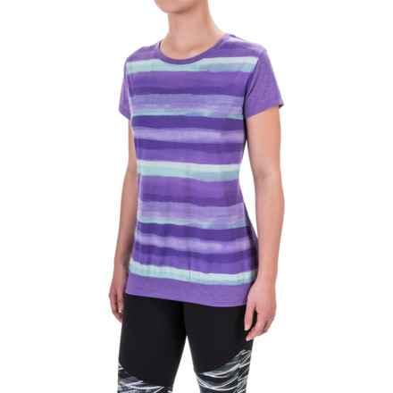 Brooks Run-Thru Shirt - Short Sleeve (For Women) in Dusk Scape - Closeouts