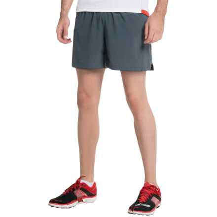 "Brooks Sherpa 2-in-1 Running Shorts - 5"" (For Men) in Asphalt - Closeouts"