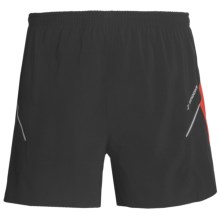 Brooks Sherpa 2-in-1 Shorts (For Men) in Black/Power Red - Closeouts