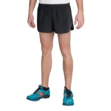 "Brooks Sherpa 2"" Split Shorts - Built-In Briefs (For Men) in Black - Closeouts"