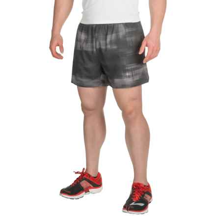 "Brooks Sherpa 5"" Shorts - Built-In Brief (For Men) in Asphalt Haze - Closeouts"