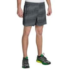 "Brooks Sherpa 5"" Shorts - Built-In Brief (For Men) in Asphalt Nano - Closeouts"