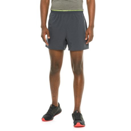 "Brooks Sherpa 5"" Shorts - Built-In Brief (For Men) in Asphalt/Nightlife"