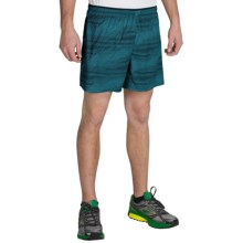 "Brooks Sherpa 5"" Shorts - Built-In Brief (For Men) in Hydrate Nano - Closeouts"