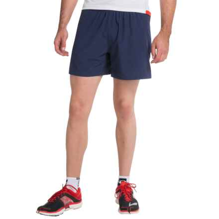 "Brooks Sherpa 5"" Shorts - Built-In Brief (For Men) in Navy - Closeouts"