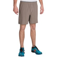 "Brooks Sherpa 7"" Shorts - Built-In Briefs (For Men) in Heather Carb - Closeouts"