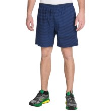 "Brooks Sherpa 7"" Shorts - Built-In Briefs (For Men) in Heather Marathon Lightspeed - Closeouts"