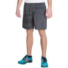 "Brooks Sherpa 7"" Shorts - Built-In Briefs (For Men) in Heather Oxford Lightspeed - Closeouts"