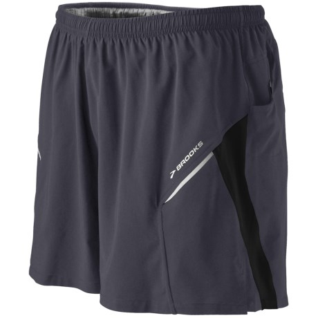 Brooks Sherpa III  Shorts (For Men) in Anthracite/Black