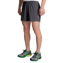 "Brooks Sherpa IV 5"" Shorts - Built-In Briefs (For Men) in Anthracite/Black - Closeouts"
