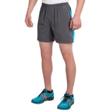 "Brooks Sherpa IV Shorts - 7"", Built-In Briefs (For Men) in Anthracite/Atlantic - Closeouts"