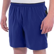 "Brooks Sherpa IV Shorts - 7"", Built-In Briefs (For Men) in Indigo/Black/Satsuma - Closeouts"
