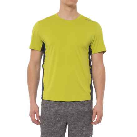 Brooks Steady Running T-Shirt - UPF 30+, Crew Neck, Short Sleeve (For Men) in Grove/Asphalt - Closeouts