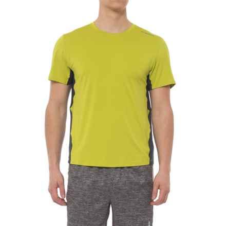 Brooks Steady Running T-Shirt - UPF 30+, Crew Neck, Short Sleeve (For Men) in Grove/Asphalt - Closeouts