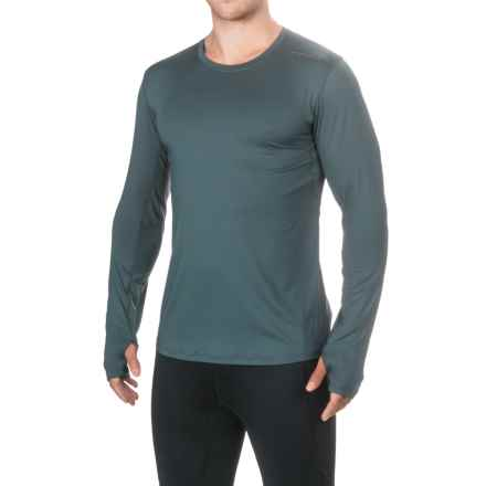 Brooks Steady Shirt - Crew Neck, Long Sleeve (For Men) in Asphalt - Closeouts