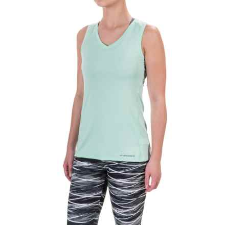 Brooks Steady Tank Top - UPF 30+, V-Neck (For Women) in Surf - Closeouts