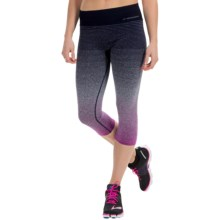 Brooks Streaker Capris (For Women) in Currant/Navy - Closeouts