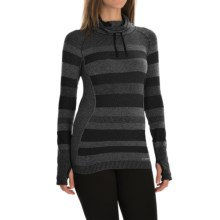 Brooks Streaker Hoodie - UPF 30+ (For Women) in Heather Black - Closeouts