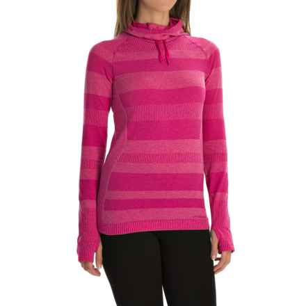 Brooks Streaker Hoodie - UPF 30+ (For Women) in Heather Bloom - Closeouts