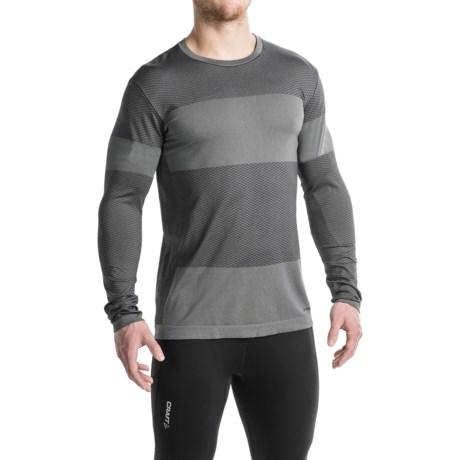Brooks Streaker Running Shirt - Long Sleeve (For Men) in Asphalt