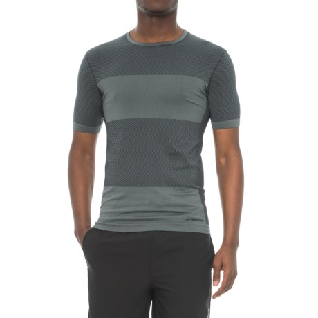 Brooks Streaker Running Shirt - Short Sleeve (For Men) in Asphalt