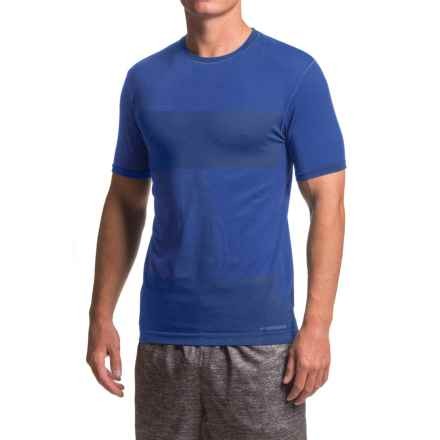 Brooks Streaker Running Shirt - Short Sleeve (For Men) in Basin - Closeouts