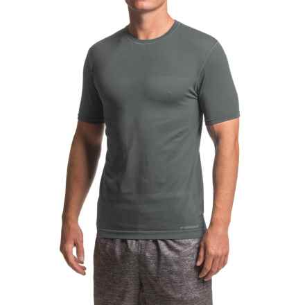 Brooks Streaker Running Shirt - Short Sleeve (For Men) in Heather Black - Closeouts