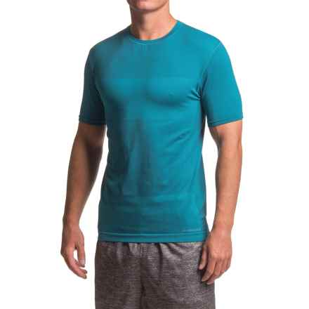Brooks Streaker Running Shirt - Short Sleeve (For Men) in Heather River - Closeouts