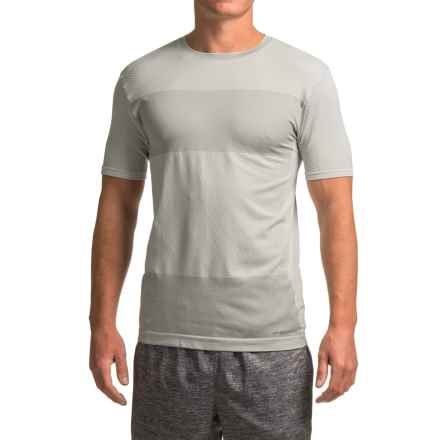 Brooks Streaker Running Shirt - Short Sleeve (For Men) in Sterling Heather - Closeouts